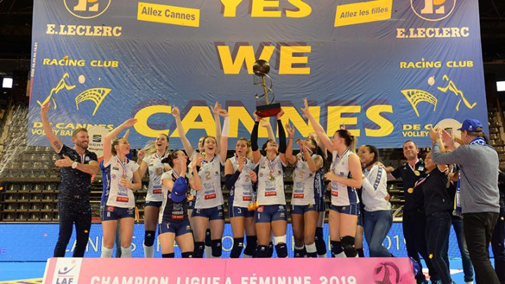 RC Cannes Champion de France 2018-2019 de Ligue AF - Volley Féminin - Sport Féminin - Femmes de Sport