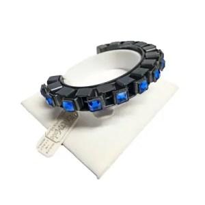 Aski – Bracciale Semicerchio Metallo Con Cristalli Bluette