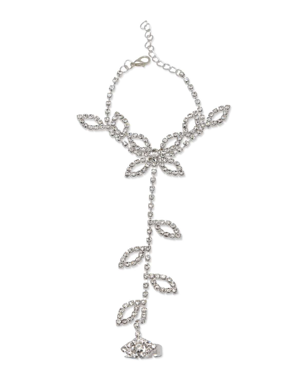 Buy Designer Fashion Leaf Stone Studded Hand Harness