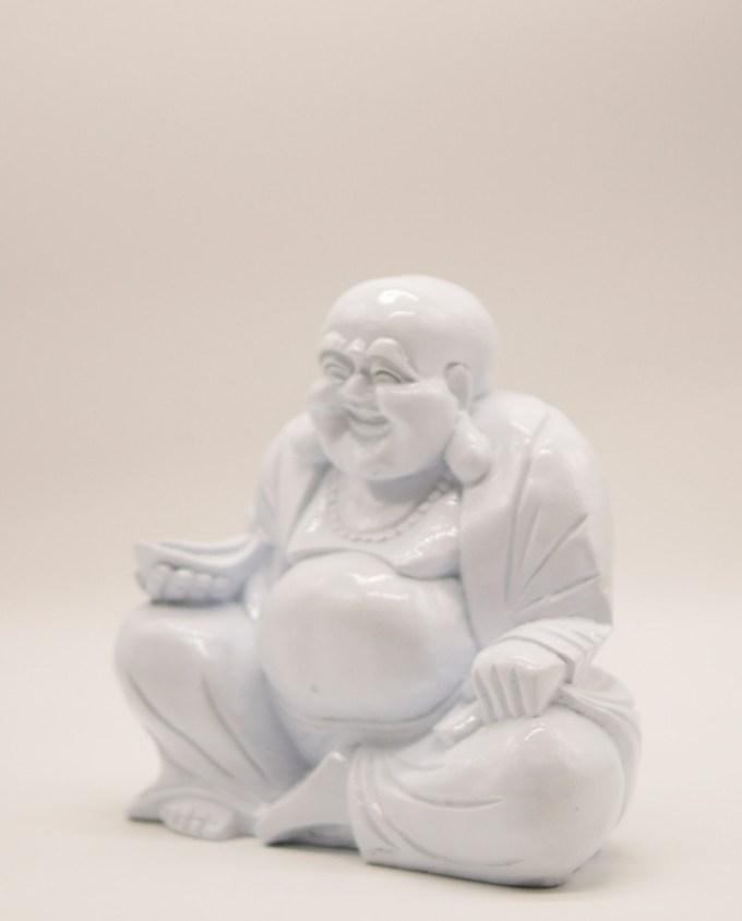 Βούδας ρητίνη χαμογελαστός ύψος 20 cm άσπρος