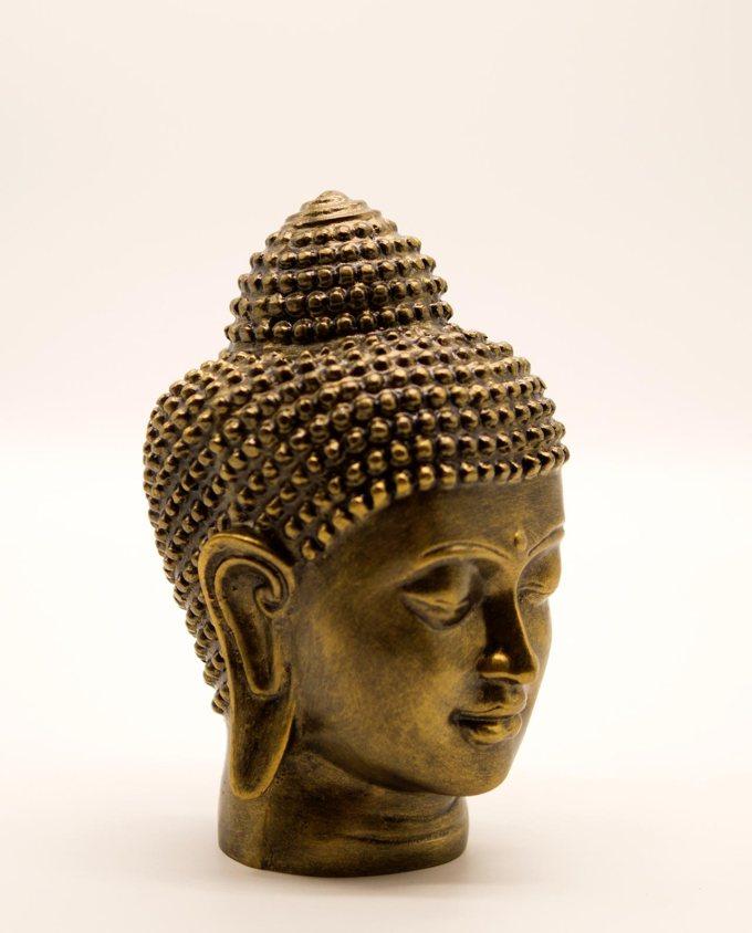 Κεφάλι Βούδα ύψος 20 cm χρυσό αντικέ