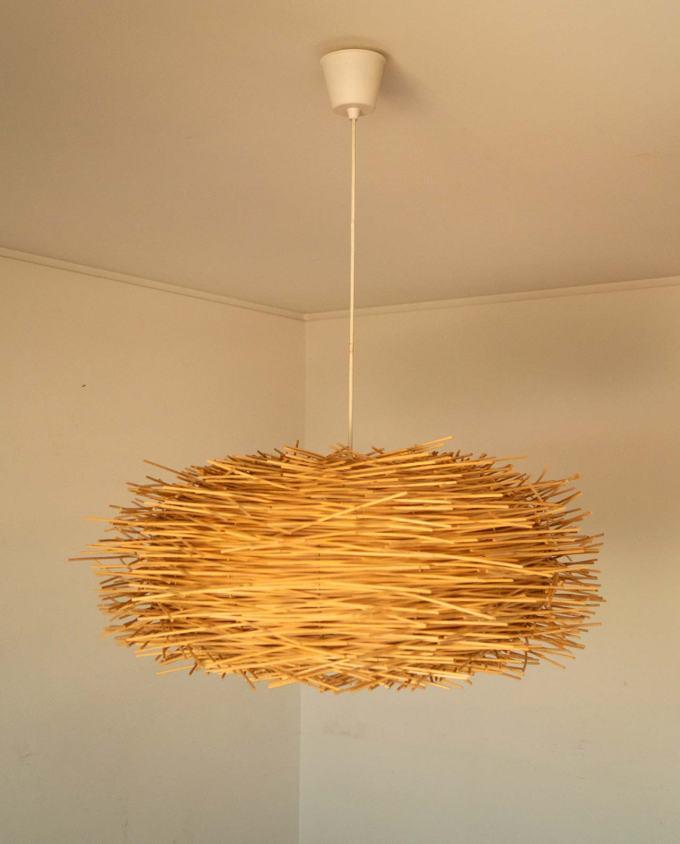 hanging lamp rattan diam.65 cm