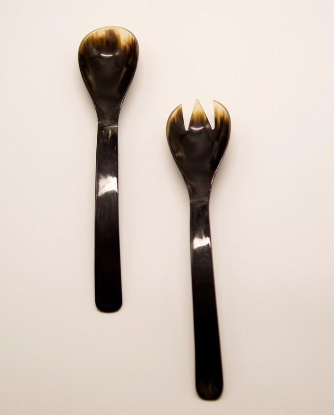 Κουτάλα & πηρούνα κόκκαλο Σετ 2 τεμάχια μήκος 26 cm