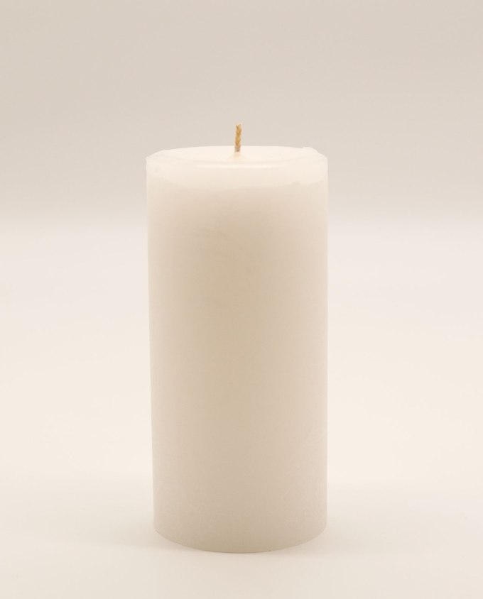 Κερί άσπρο αρωματικό ρουστικ διαμέτρου 7 cm, υψους 15 cm