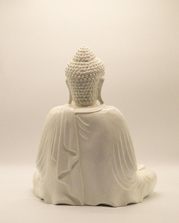 Βούδας ρητίνη ύψος 40 cm άσπρος