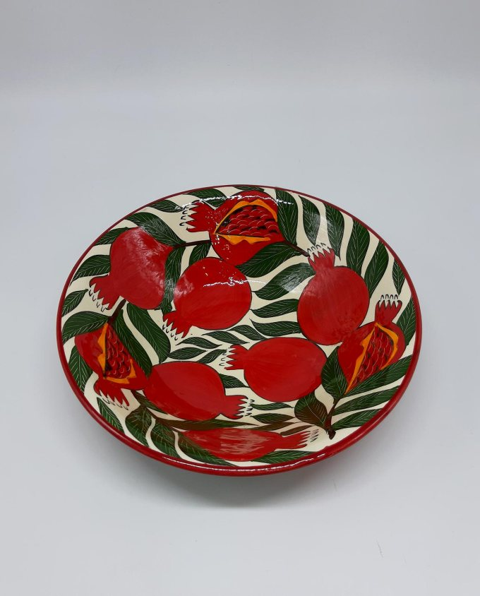 "Bowl ceramic ""Pomegranates"" diameter 29 cm"