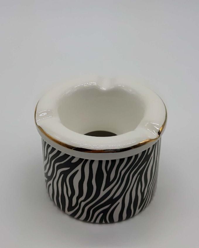 """Τασάκι κεραμικό """"Zebra II"""" διαμέτρου 10 cm"""