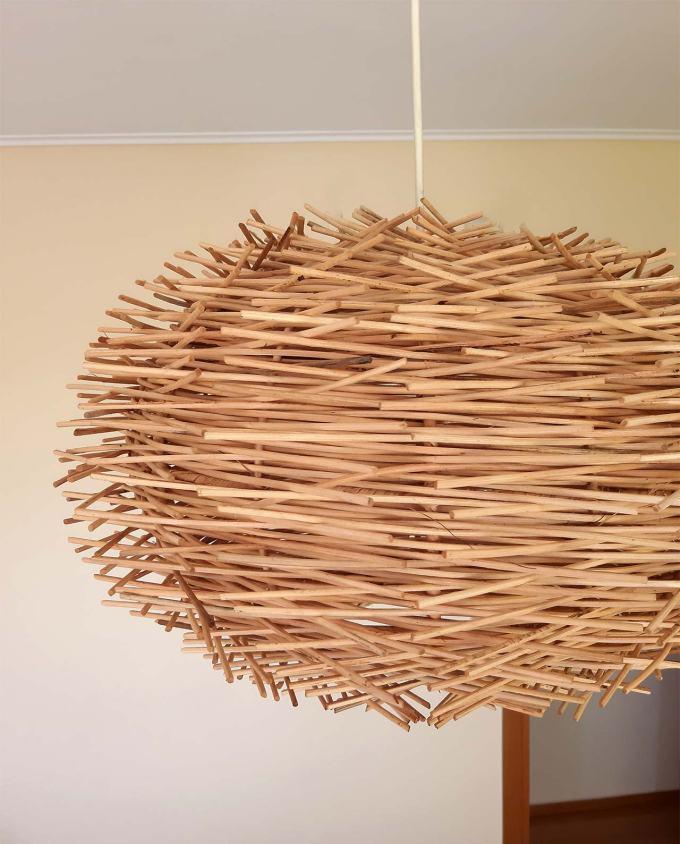 Φωτιστικό οροφής Ρατταν «Urchin» διαμέτρου 50 cm