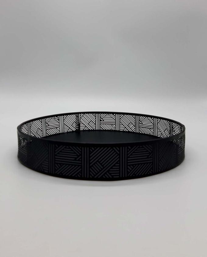 Δίσκος μαύρος στρογγυλός μεταλλικός διαμ. 30 cm