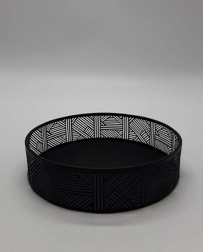 Δίσκος μαύρος στρογγυλός μεταλλικός διαμ. 20 cm