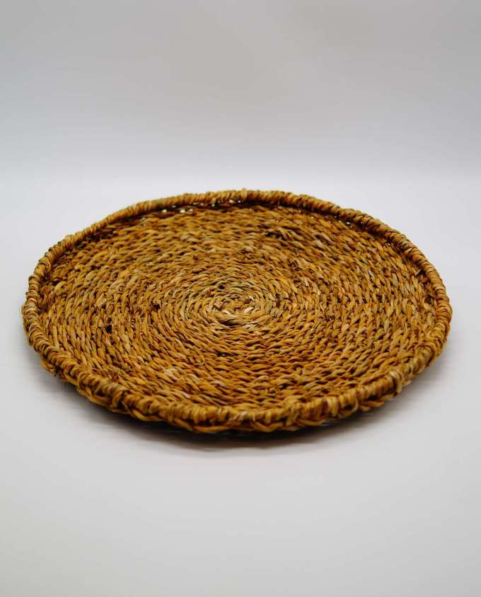 Platter made of raffia grass diameter 35 cm height 5 cm