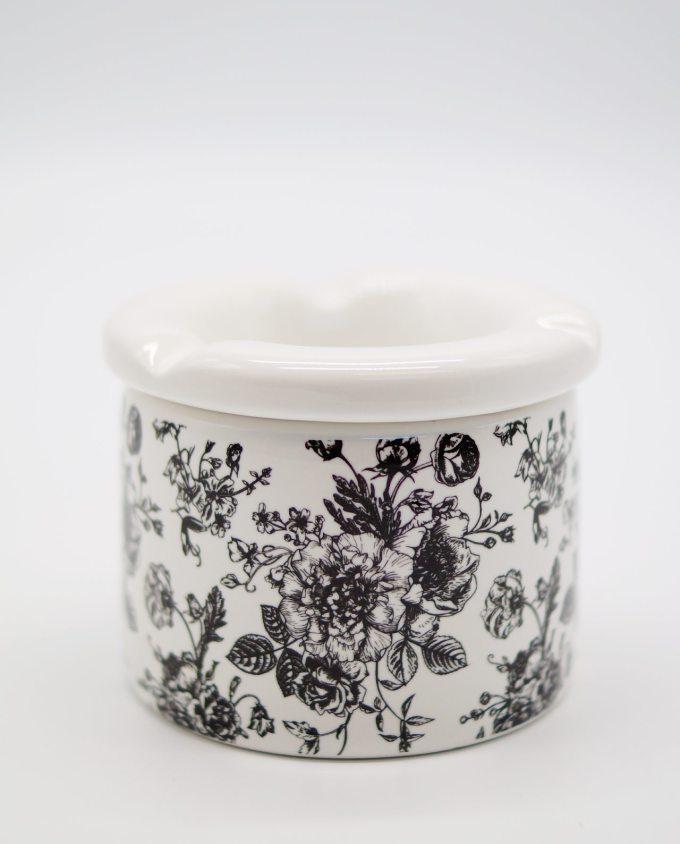 Ashtray Ceramic Black Roses Diameter 10 cm II