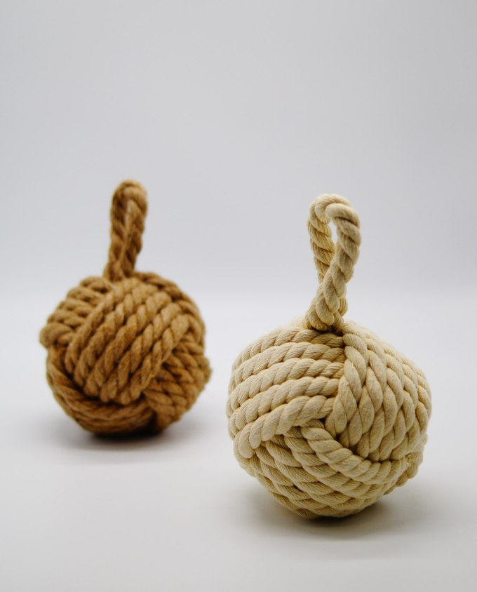 Door Stop White Rope Knot