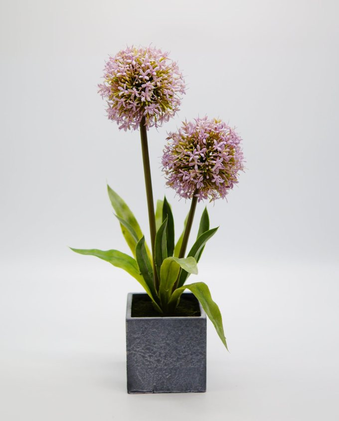 Artificial Flowers Lilac in Pot Height 45 cm