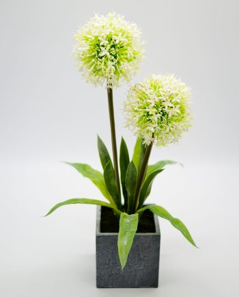 Artificial Flowers White in Pot Height 45 cm