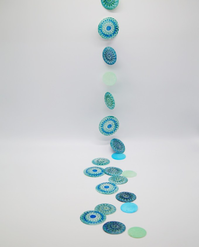 Garland Mother Of Pearl Blue-Turquoise I