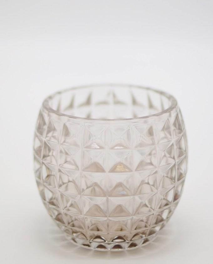 Votive of heavy tealight clear glass