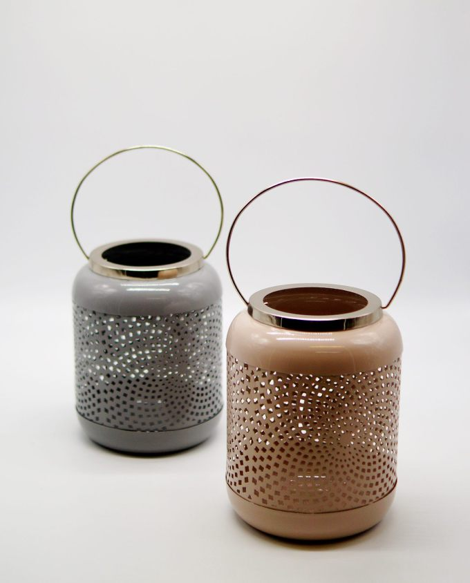 Lanterns Metal Pastel Color Height 19.50 cm