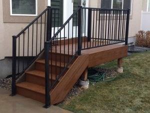 Iron Railing Cfc Fences Decks   Trex Enhance Stair Railing   Trex Deck Railing Installation   Clam Shell   Lighting   Installation Instructions   Composite Decking