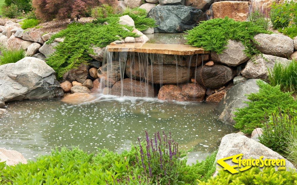 Garden Pond & Waterfall Patio & Gazebo Screen on Small Backyard Pond With Waterfall id=85077