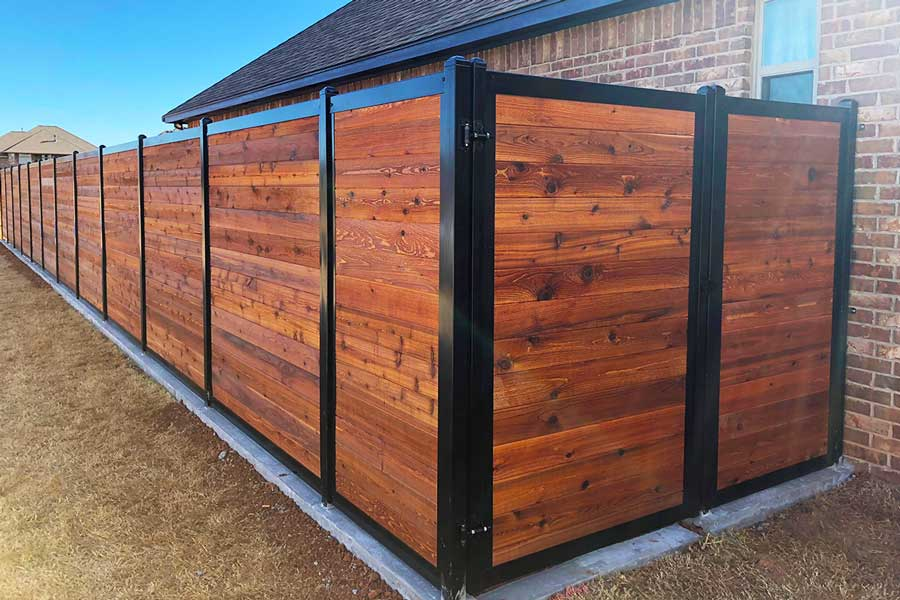 The Ultimate Collection of Privacy Fence Ideas (Create Any ... on Decorations For Privacy Fence id=20293