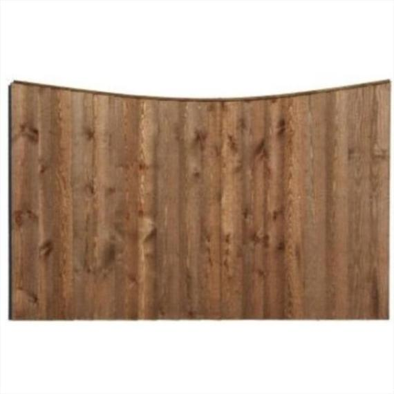 Concave Feather Edge Fence Panel - 6'x4'