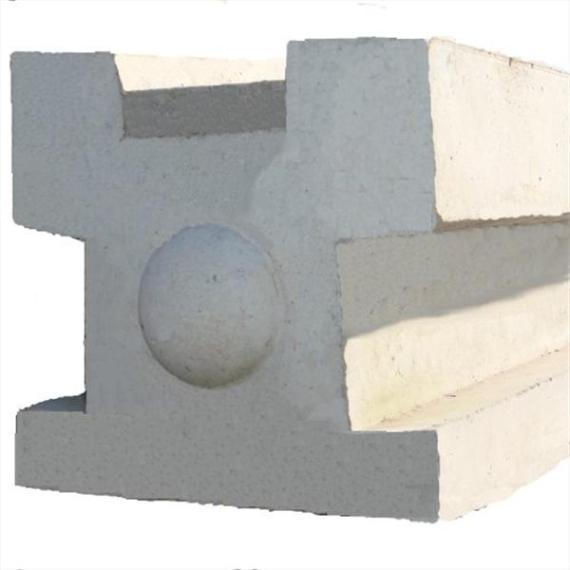 "Concrete 3-Way Post - 6'9"""