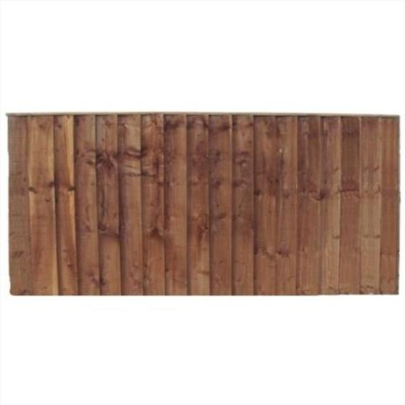 Feather Edge Fence Panel - 6'x2'