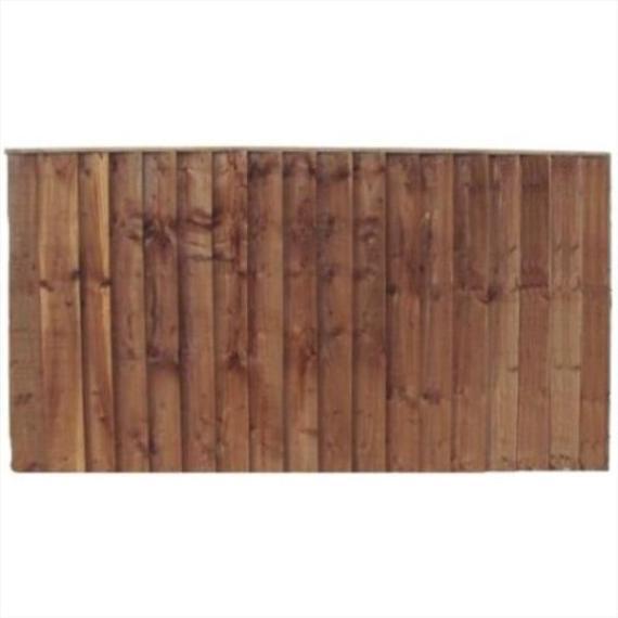 Feather Edge Fence Panel - 6'x3'