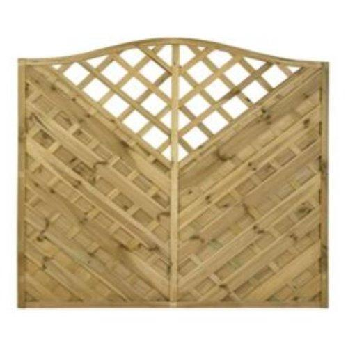 Kent Arch Fence Panel - 6'x6'