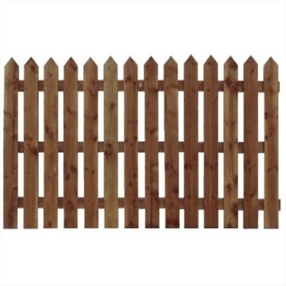 Pointed Top Picket Fence Panel - 6'x4'