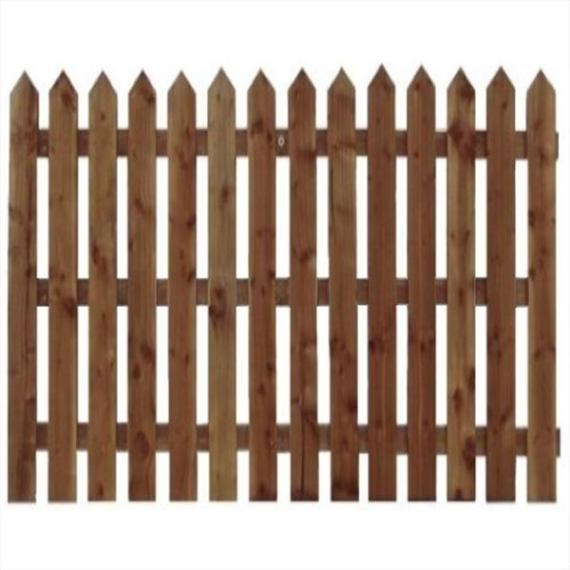 Pointed Top Picket Fence Panel - 6'x6'