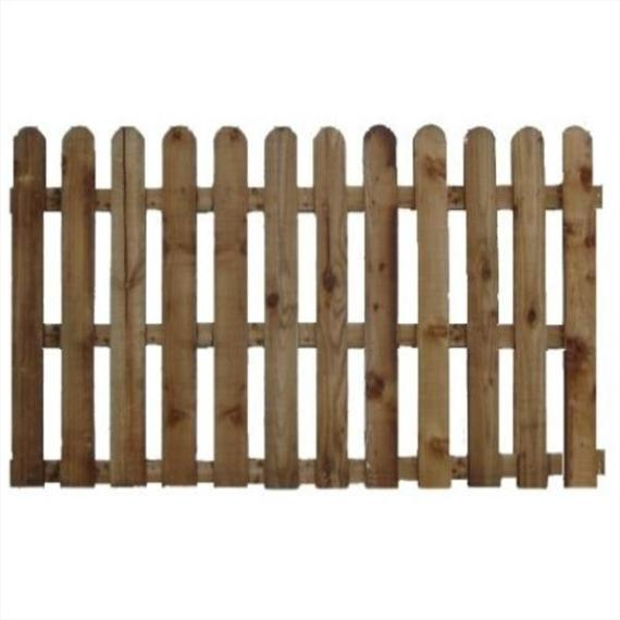Round Top Picket Fence Panel - 6'x4'