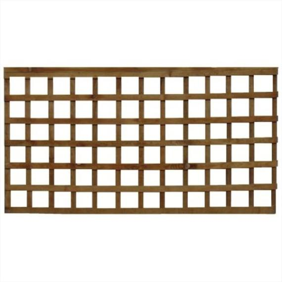 Square Trellis Fence Panel - 6'x3'