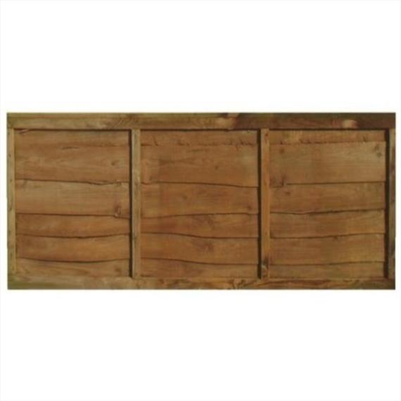 Waney Lap Fence Panel - 6'x2'
