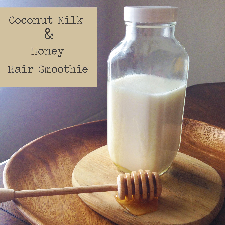 DIY Deep Conditioning Hair Smoothie Coconut Amp Honey Hair
