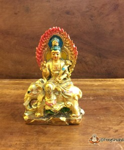 Quan Yin sitting on Elephant is meant to bless you with Knowledge, Wisdom, Mental Peace and Strength.