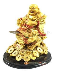 Laughing Buddha on 3 Legged Wealth Frog