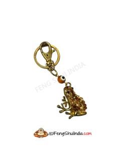 Lucky Charm Frog Evil Eye Keychain