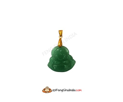Green Jade Laughing Buddha Pendant