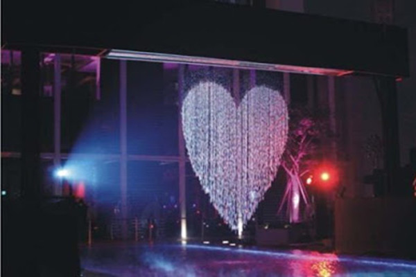 indoor water curtain wall design and