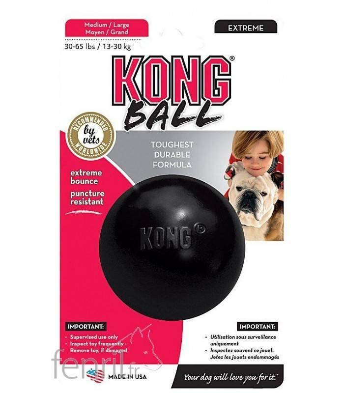 kong extreme ball balle rebondissante resistante pour chien