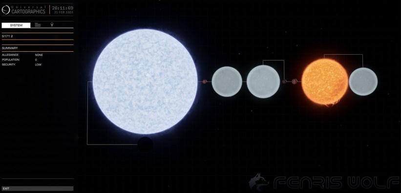 S171 2 - Black Hole = 1