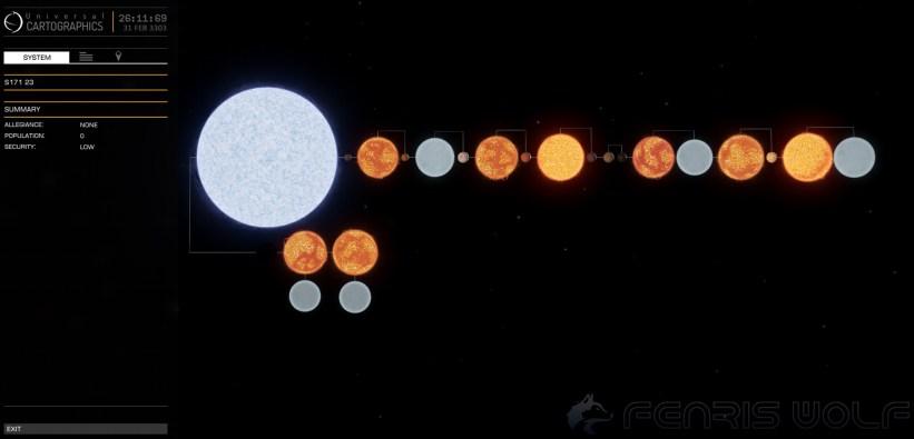 S171 23 - Black Hole = 1