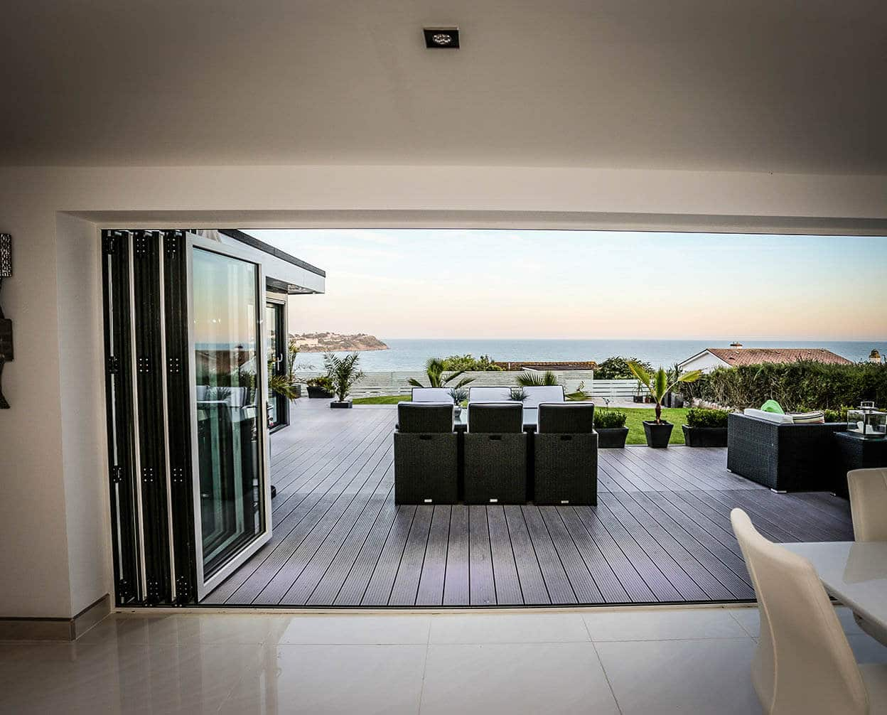open aluminium patio door fenster