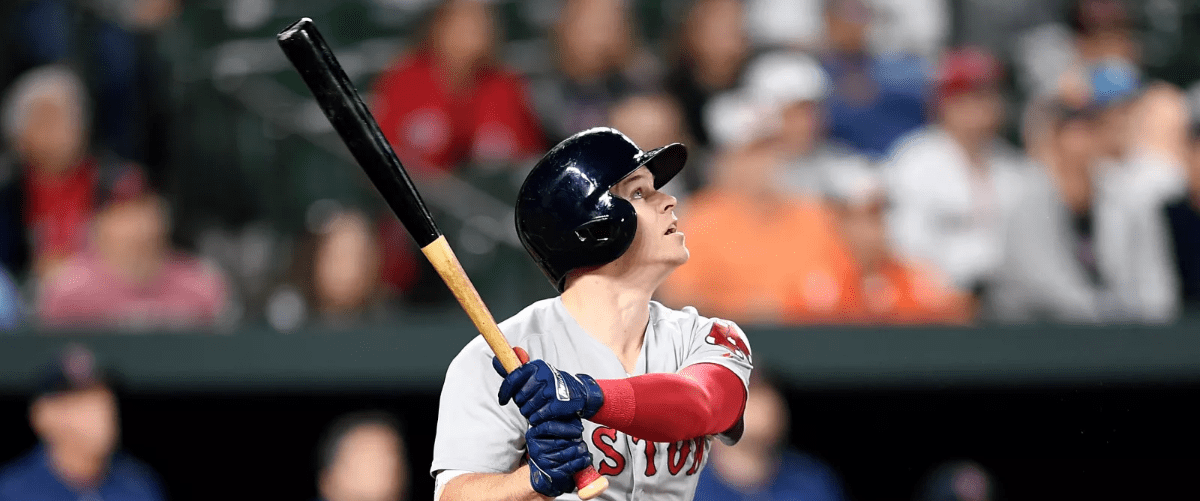 Brock Holt, Red Sox at Rays, 11 June 2018 - Photo by Greg Fiume/Getty Images