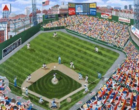 Fenway Park Writers Series - painting of Fenway