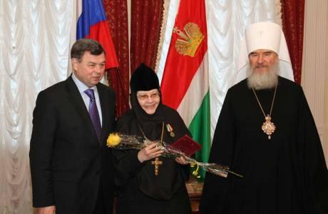 Церемония награждения клириков Калужской епархии и мирян юбилейной медалью «65 лет Калужской области»