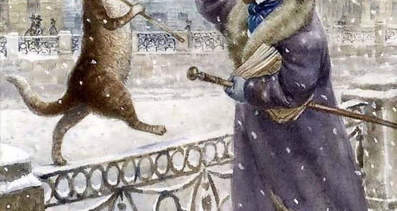 Пушкин тоже любил кошек!