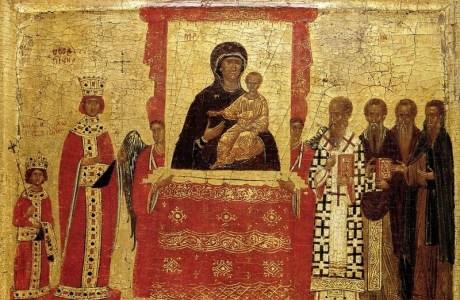 Православия день празднующе, наипаче прославим Виновника всех благ Бога.